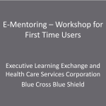 e-Mentoring Workshop for First-Time Users (Dec 2009)