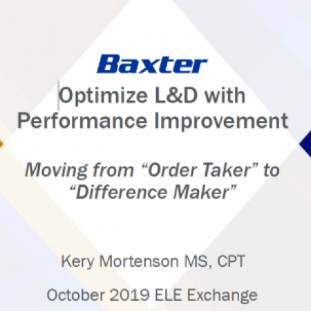 Optimize L&D--Be A Difference Maker